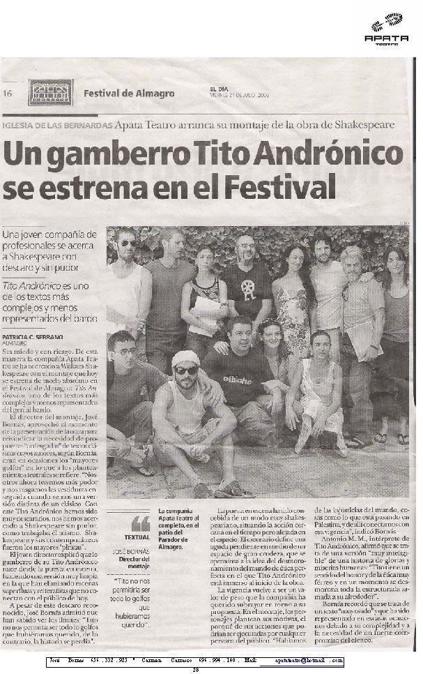 Presentación rueda de prensa Festival de Almagro 2006